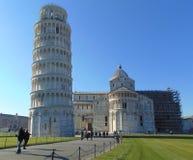 Pisa Tuscany Włochy pisa katedralny oparty wierza obraz stock