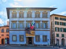 Pisa, Tuscany, Włochy, Maj 2018/: Palazzo Błękitny jest centrum dla obrazy royalty free
