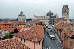 Pisa View Of Dome Square From Above Stock Photos