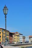 Pisa view with street lamp Royalty Free Stock Photo