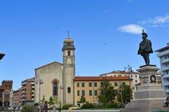 Pisa - Vittorio Emanuelle square. Small square in Pisa center Royalty Free Stock Photo