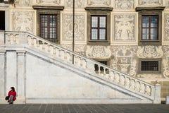 Pisa Włochy, Luty, - 26, 2017: Knights' kwadrata piazza Zdjęcie Stock