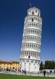 Pisa. Oparty wierza, Tuscany punkt zwrotny Fotografia Stock