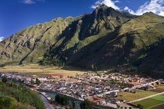 Pisac -印加人的神圣的谷-秘鲁 库存照片