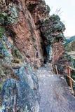 Pisac :长的隧道三米 库存照片