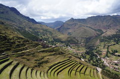 Pisac, Cuzco - Peru. One of the towns that form the Incas Sacred Valley in Cuzco, Peru. Pisac offers a beautiful landscape royalty free stock photo