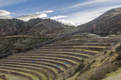 Pisac fördärvar Cuzco Peru Arkivfoton