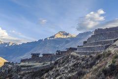Pisac fördärvar Cuzco Peru Fotografering för Bildbyråer