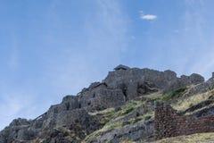 Pisac fördärvar Cuzco Peru Arkivbild