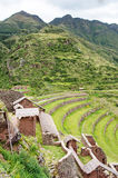 Pisac - Inca ruins in the sacred valley in the Peruvian Andes, Royalty Free Stock Photography