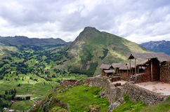 Pisac - Inca ruins in the sacred valley in the Peruvian Andes, Stock Images
