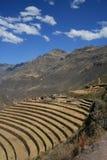 Pisac. Inca terraces in Pisac, Peru Royalty Free Stock Photography