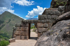 Pisac Incas fördärvar, den sakrala dalen, Peru Royaltyfri Fotografi