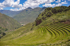 Pisac Incas ruins, Sacred Valley, Peru Stock Photos