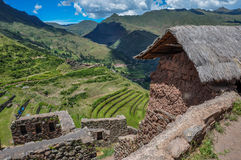 Pisac Incas ruins, Sacred Valley, Peru.  Stock Images