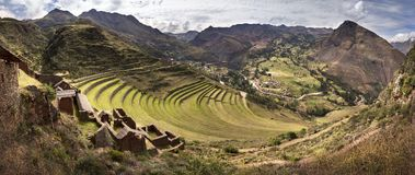 Pisac, Inkamonument in den peruanischen Anden nahe Cuzco, Peru Lizenzfreies Stockfoto
