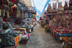 Pisac Market. Colourful thoroughfare at Pisac Market Royalty Free Stock Photo