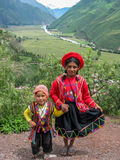 Children at Mirador Taray near Pisac in Peru Royalty Free Stock Image