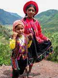 Children at Mirador Taray near Pisac in Peru Stock Image