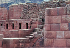 PISAC, PERU. Inka settlement with nice samples of Inka masonry Stock Images