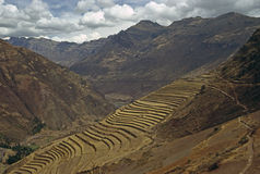 Pisac, Peru. Terracing on mountains in Pisac, Peru Stock Photography