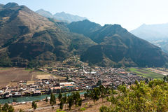 Pisac, Peru, on the Urubamba River Stock Images