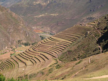 Pisac, Peruvian Terraced Lands Stock Photos