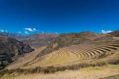 Pisac ruïneert de Peruviaanse Andes Cuzco Peru Stock Fotografie