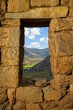 Pisac ruins. Ancient Inca ruins at Pisac near Cuzco, Peru Royalty Free Stock Photo