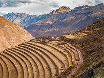 Pisac Ruins near Pisac Sacred Valley. Peru Royalty Free Stock Photography
