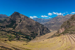 Pisac ruins peruvian Andes  Cuzco Peru. Pisac, Incas ruins in the peruvian Andes at Cuzco Peru Royalty Free Stock Photo
