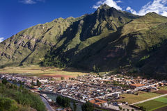 Pisac - The Sacred Valley of the Incas - Peru. The town of Pisac in The Sacred Valley of the Incas in Peru Stock Photos
