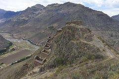 Pisac, valle sagrado, Perú imagenes de archivo