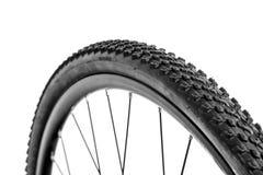 Pisada de la rueda y del neumático de bicicleta Fotos de archivo libres de regalías