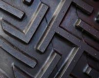 Pisada del neumático del alimentador Fotografía de archivo
