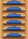 Pisadas de escaleras de madera Mats Blue Endless stock de ilustración