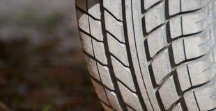 Pisadas del neumático Fotografía de archivo