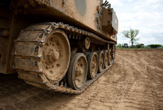 Pisadas del tanque Foto de archivo libre de regalías