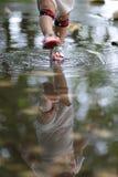 Pisando a água Imagem de Stock Royalty Free