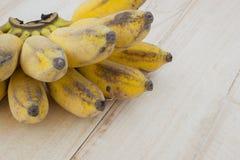 Pisang Awak banana, Kluai Nam Wa, Cultivate banana on wooden bac Stock Images