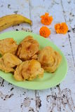 Pisang goreng or fried banana. Indonesian food Royalty Free Stock Photography