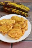 Pisang goreng or fried banana. Pisang goreng or fried plantain banana, Indonesian food Stock Photography