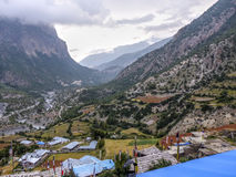 Pisang superiore, Nepal Fotografie Stock