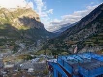 Pisang superiore, Nepal Immagini Stock Libere da Diritti