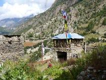Pisang superiore, Nepal Immagini Stock
