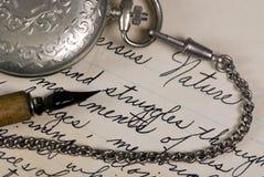 pisanie czasu Zdjęcie Royalty Free