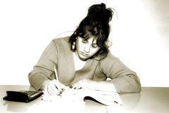 pisanie kobiety Obraz Royalty Free