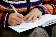 pisanie ręce obrazy royalty free