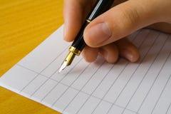 pisanie ręce Zdjęcia Stock