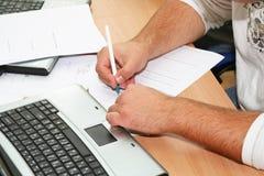 pisanie ręce Zdjęcia Royalty Free